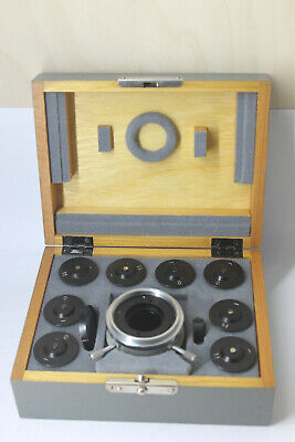 Carl Zeiss Jena Microscope Set Filter Interference Eyepiece Condenser Parts