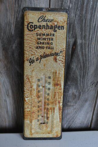 Vintage Copenhagen Chew Tobacco Advertising Thermometer Metal