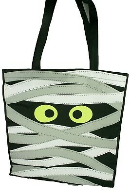 Halloween MUMMY Trick or Treat Tote Bag Candy Carry Bag