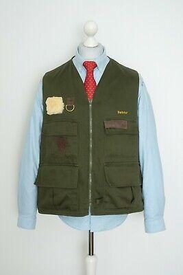 Vintage Barbour International Fishing Flyfisher Olive Vest Gilet Size XL