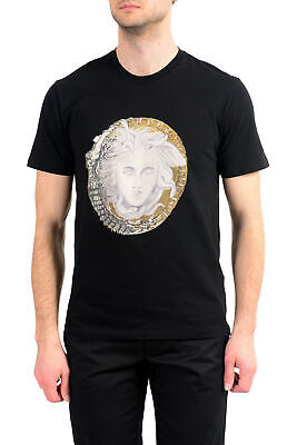 Versace Men's Black Crewneck T-Shirt US S M L XL 2XL
