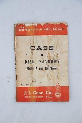 Original Case R Rh Series Disk Harrow Owners Operators Manual Ji Vintage