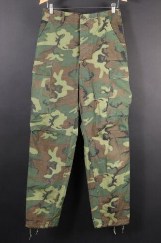 VTG 70s ERDL Poplin Combat Tropical Camo Trousers Pants Mens Small Long