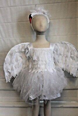 Schwanensee Ballerina Boutique Kostüm Kleinkind Mädchen Wings Stirnband 4 5 Neu