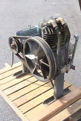 Dayton 3z172 Air Compressor Pump W 3n071 3-phase 7.5hp Motor No Tank
