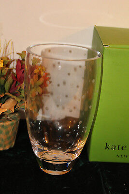 Kate Spade Larabee Dot  Bouquet Vase Crystal New in Box 8.75