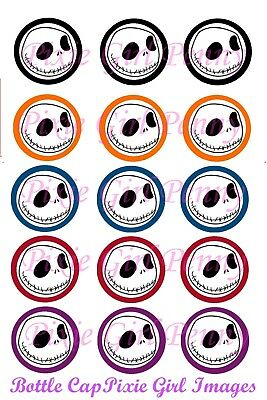 Jack Nightmare Before Christmas Borders 15 Bottle Cap Images Cup Cake Toppers
