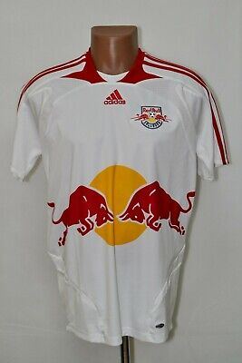 RED BULL SALZBURG AUSTRIA 2007/2008 HOME FOOTBALL SHIRT ADIDAS SIZE S ADULT image