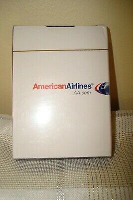 Vintage American Airlines Playing Cards White AA.com New Sealed in Package