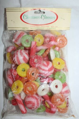 Vintage Christmas Tree Candy Garland 8 ft Sealed in Bag - Christmas Classics