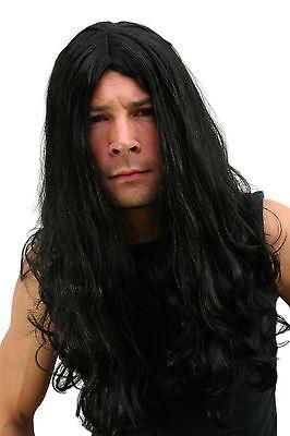 - Wig: Black Metal Headbanger Mat Mähne Biker Black Skirt Metaler Parted