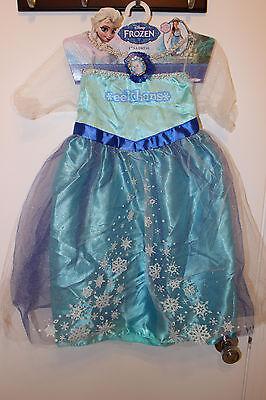 sa Snow Queen Princess Costume Dress Girls Size 4-6x (Frozen Snow Queen)