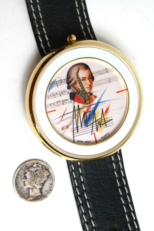 Unique Mozart Wrist Watch with Saxophone  Jazz-Classical  Collectable