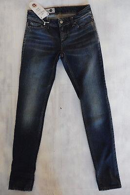 THE ITALIAN JOB Made in Italy Skinny Jeans blau Bio-Öko-gefärbt aged W25/L30 NEU - Gefärbte Skinny Jeans