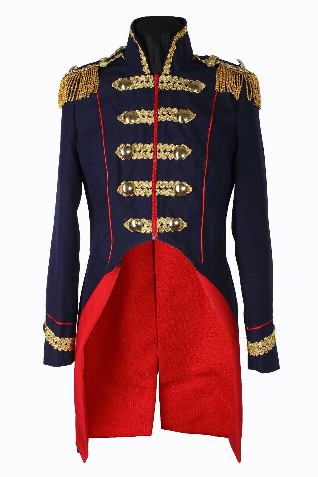 Damen Soldat Jacke Karnevalskostüm Uniform Fasching Gehrock Köln 36-54 Blau