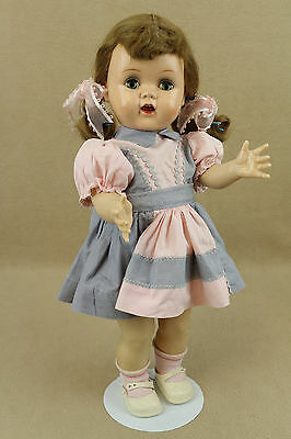 "16"" vintage hard plastic Ideal Saucy Walker Doll"