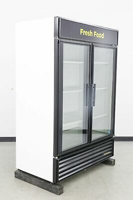 Used True Gdm-49 2 Glass Swing Door Merchandiser Refrigerator 577514