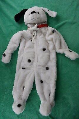 Authentic Kids Plush Fur Infant Baby DALMATIAN Halloween Costume 12 Months New