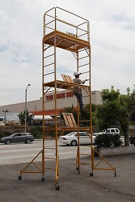 CBM Scaffold Rolling Tower Stand at 17 Feet H W/ All Hatch Deck