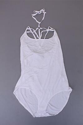 boohoo Women's Plus Sophia Strappy O-Ring Bodysuit SV3 White Size US:16 NWT