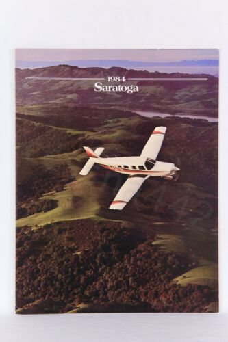 PIPER Original Vintage SARATOGA Brochure Gloss 1984 Rare USA 6 Pages Gift New