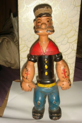 1929 RARE HUBLEY CAST IRON POPEYE DOORSTOP BY KING FEATURES SYNDICATE