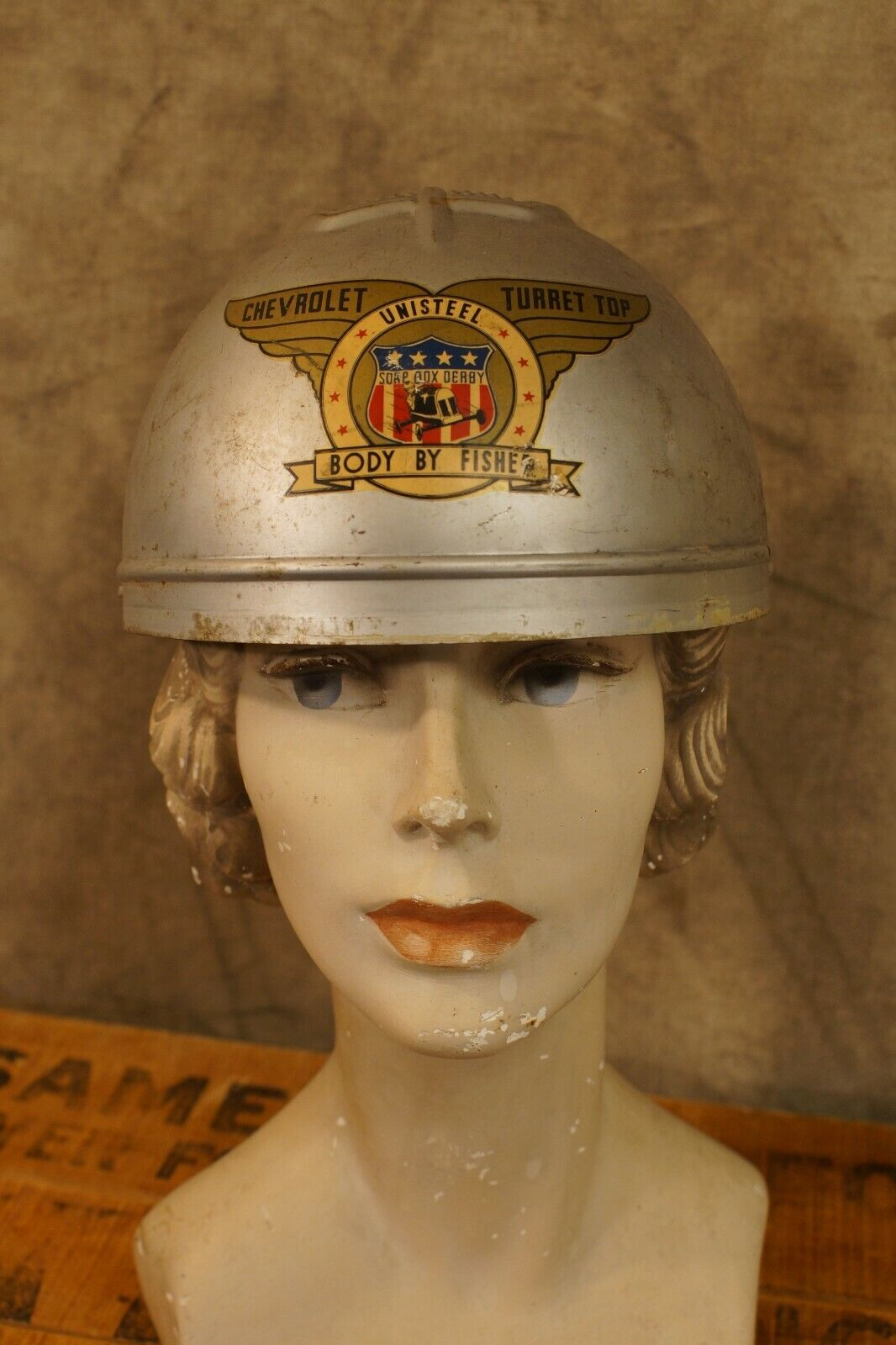 1930's Chevrolet Turret Top Soap Box Derby Helmet Body by Fisher
