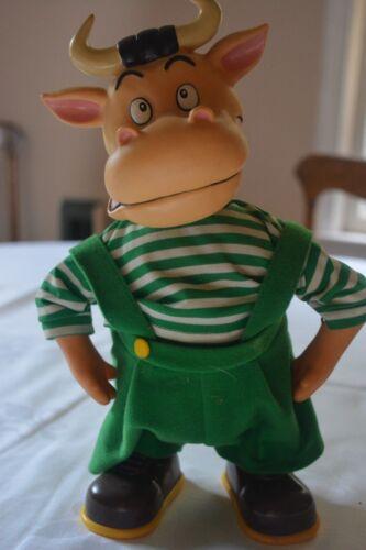 Vintage Walking/Dancing Holstein Bull Toy