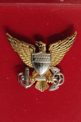 USCG US COAST GUARD REDUCED SIZE ALL O1 - O10 OFFICER RANKS GARRISON CAP BADGE