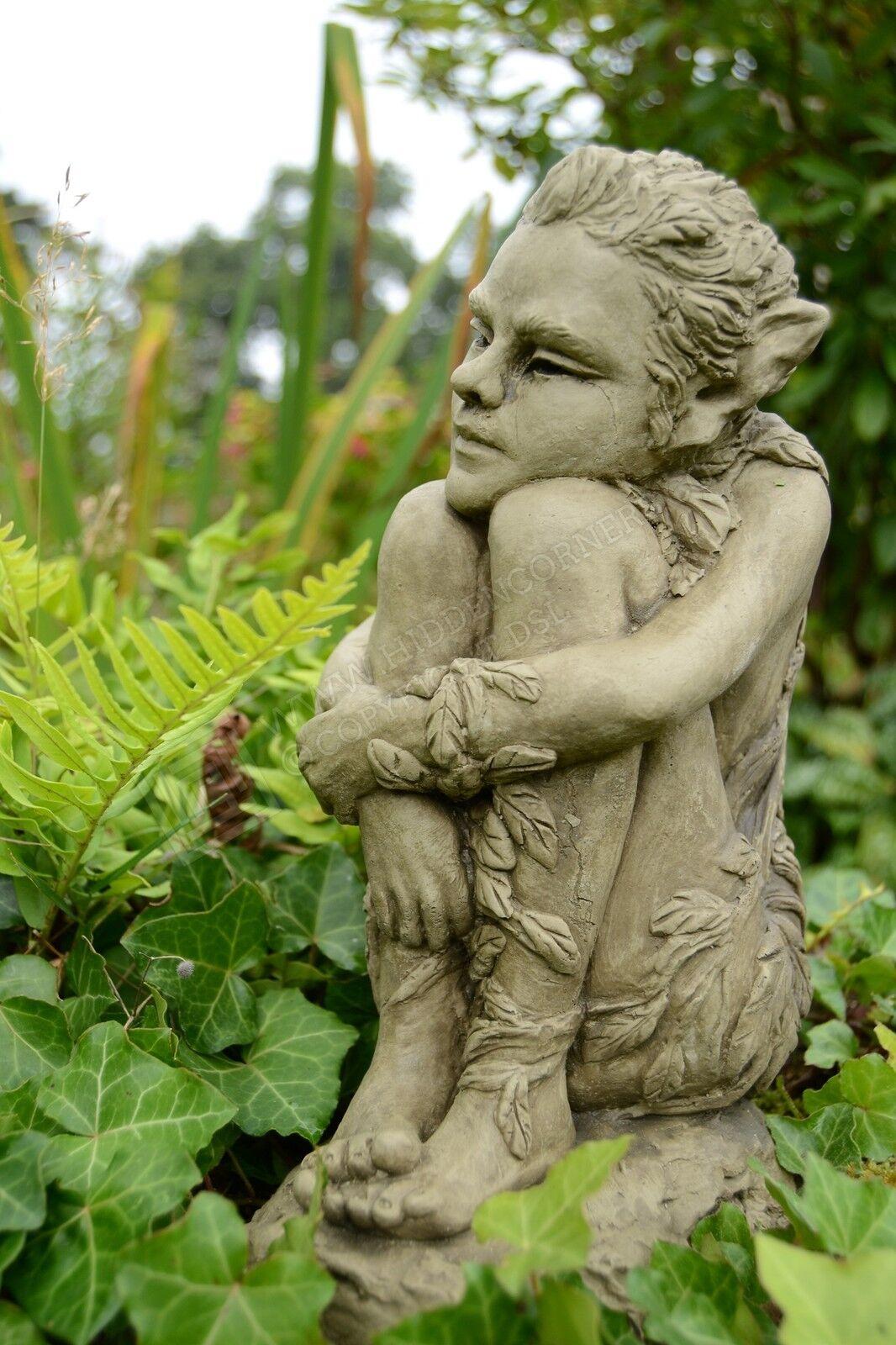 Ivy Fairy Garden Ornament Gargoyle Sculpture Stone Statue