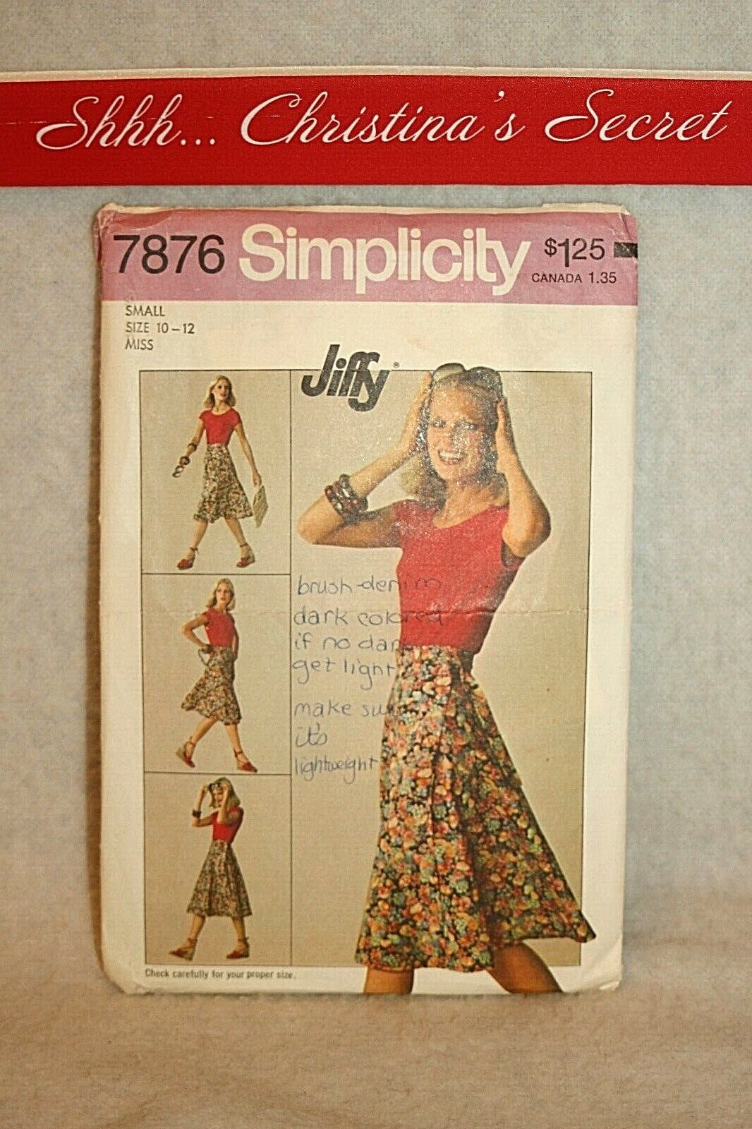 Simplicity 8354 Tween Girls/' Dresses 12 14 *Extremely Rare*   Sewing Pattern