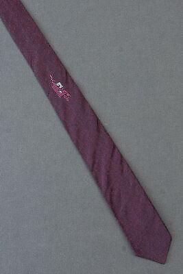 1960s – 70s Men's Ties | Skinny Ties, Slim Ties Grid & Vine - 1960's Skinny Narrow Thin Dark Pink Tie Necktie $19.99 AT vintagedancer.com