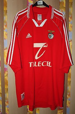 BENFICA PORTUGAL 1999/2000 HOME FOOTBALL SHIRT JERSEY MAGLIA ADIDAS image