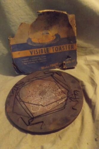 Primitive Vintage 1930s Folding Stove Camping Cookware VISIBLE TOASTER Orig Pkg.