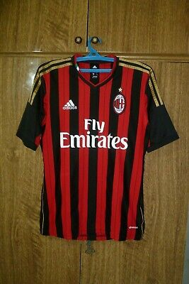 AC Milan Adidas Football Shirt Home 2013/2014 Soccer Jersey Men Size S Small