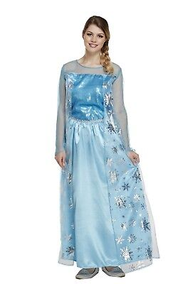 Adult Female Ice Queen Frozen Fancy Dress Dressing Up Outfit Costume Hen Do - Frozen Dress Up Kostüm