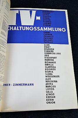 Schaltplan Sammlung Werner Zimmermann ´60-69 TV Schaltungssammlung Fernseher RFT