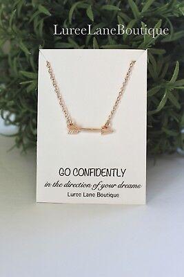 Inspirational graduation arrow necklace gift](Graduation Necklaces)