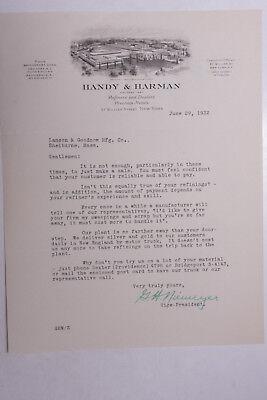 1932 Lamson Goodnow Handy Harman Nyc Refining Dealers Metals Ephemera L931j