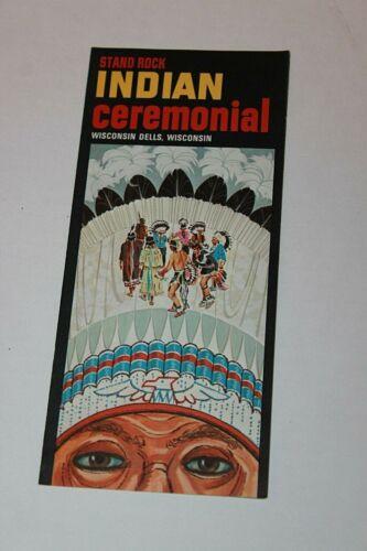 Vintage Travel Brochure Wisconsin Dells Stand Rock Ceremonial
