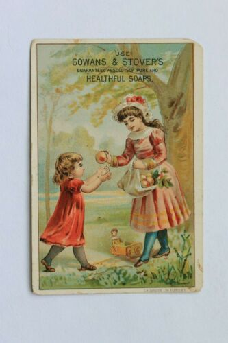 Victorian trade card GOWANS & STOVER'S HEALTHFUL SOAPS, BUFFALO, N.Y., ca 1880s