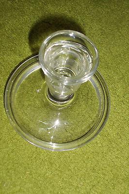 Kerzenhalter für schmale Kerzen, Glas, ca. 10 cm hoch, Fuß ca. 10 cm Durchmesser