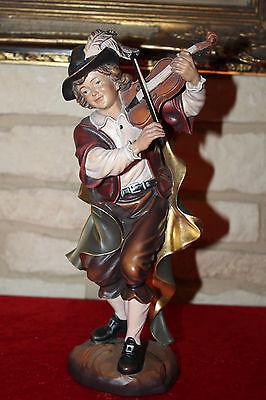 Holzfigur Holzgeige Geigenspieler Musiker Musikant 30cm alpenländisch Südtirol
