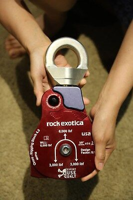 Giant Rock Exotica Omni-block 4.5 Material Handling Pulley Single Block 34 Inch