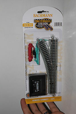 BACHMANN N SCALE REMOTE TURNOUT SWITCH TRACK (LEFT), NEW IN BOX