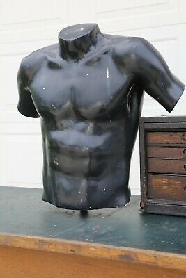 Vintage Mannequin Male Dress Form Man Chest Bust Upper Torso Store Display