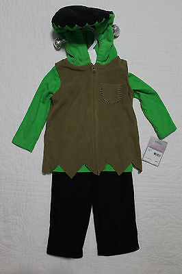 NEW CARTER'S FLEECE BABY TODDLER HALLOWEEN COSTUME LITTLE FRANKENSTEIN SZ 6-9 M - Frankenstein Halloween Costume Baby