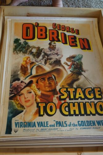 "Stage to Chino (RKO, 1940). One Sheet (27"" X 41""). Western (On Linen)"