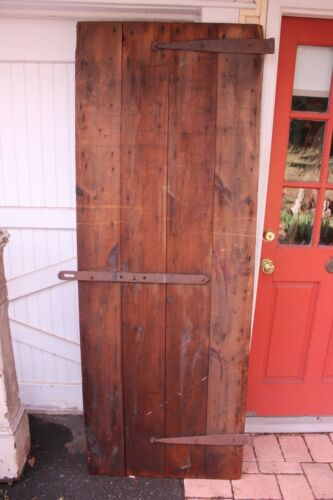 Antique Farmhouse Handmade Solid Wood Door Wrought Iron Hardware Bucks County