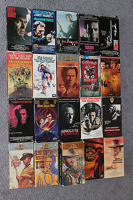 Classic Clint Eastwood VHS movie collection Lot